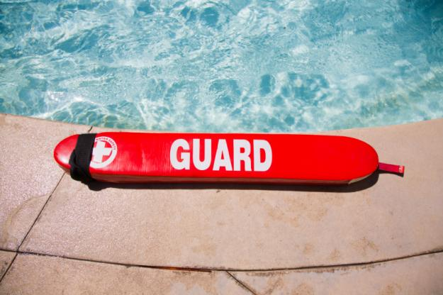 Public swimming pools lifeguard