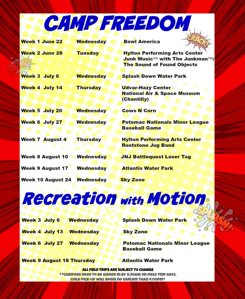 Camp Freedom & Recreatio with Motion Field Trips!