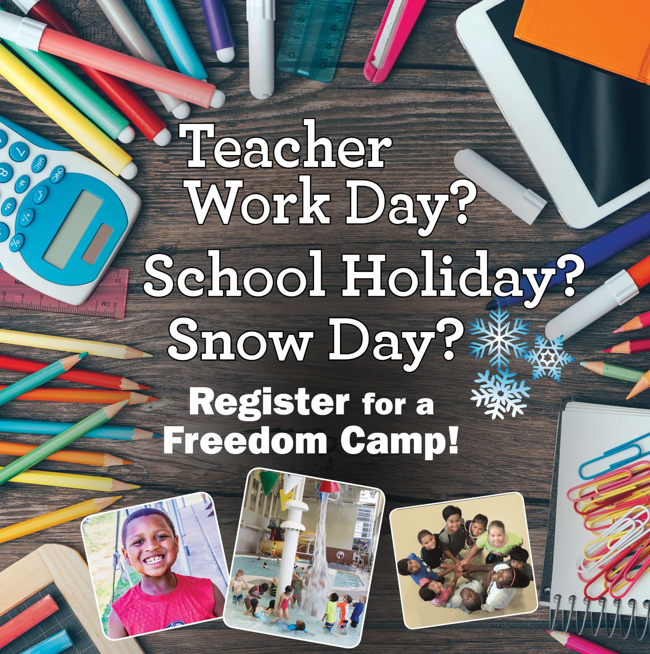 Teacher Work Day Camps Website